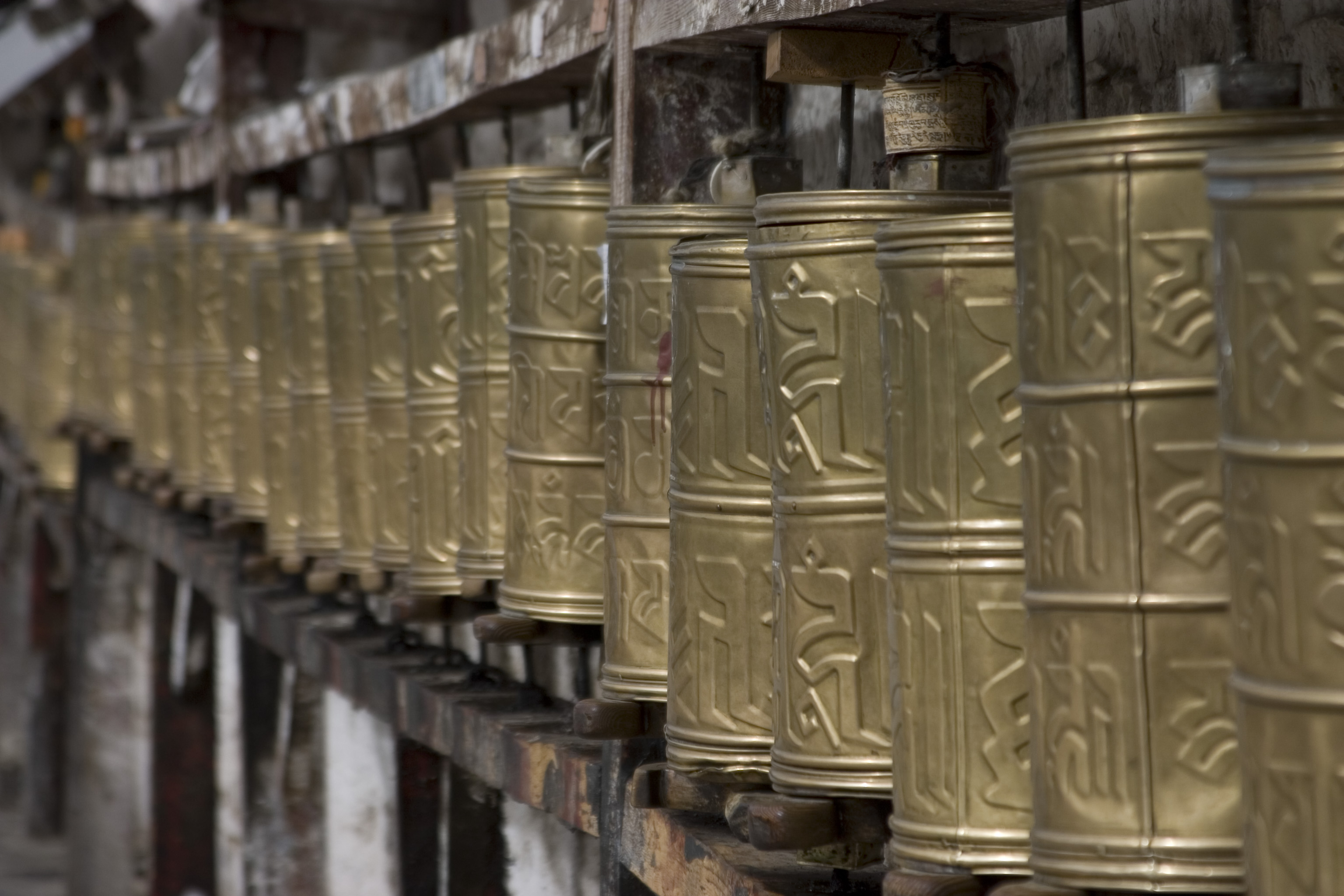 Prayer Wheels Potala Palace Lhasa Tibet
