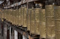 Prayer Wheels Potala Palace Lhasa Tibet