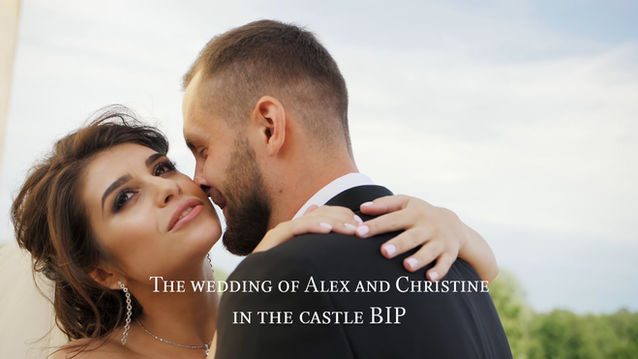 The wedding of Alex and Christine in the castle BIP