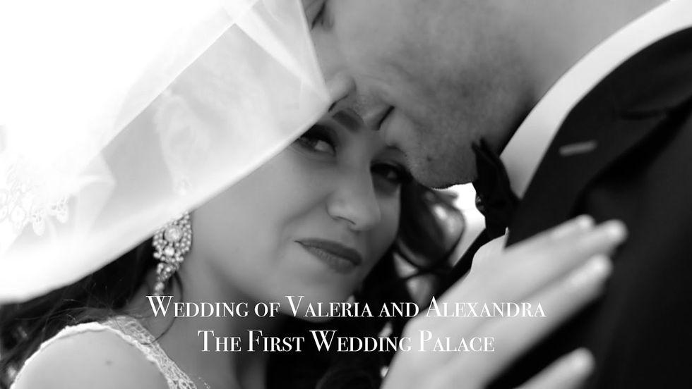 Свадьба Валеры и Александры в первом дворце бракосочетания