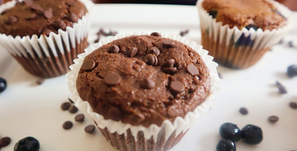 Chocolate Chip Muffins - Pack of 2