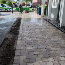 Oprit gebakken stenen Noorderplassen