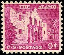 1956 US Postage Stamp depicting The Alamo