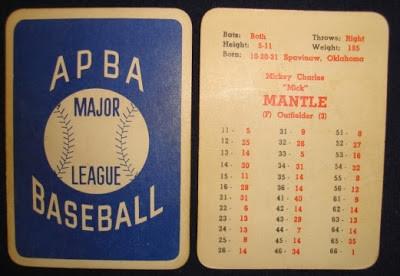 Original 1957 Mickey Mantle APBA card