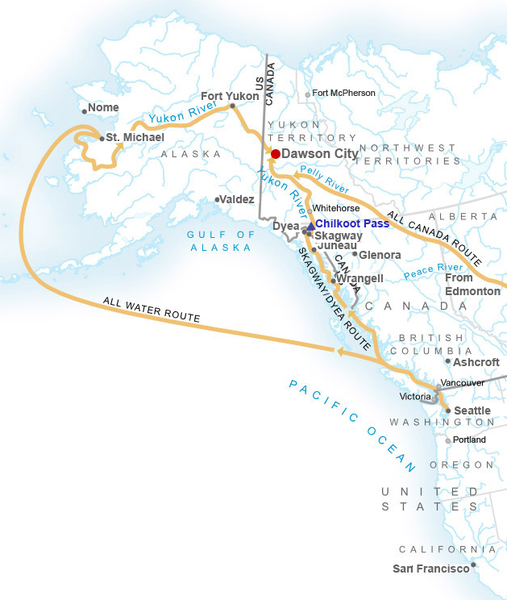 The Klondike routes