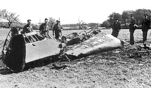 The crash site of Rudolf Hess