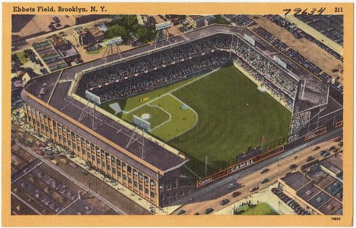 1950s postcard of Ebbets Field, Brooklyn