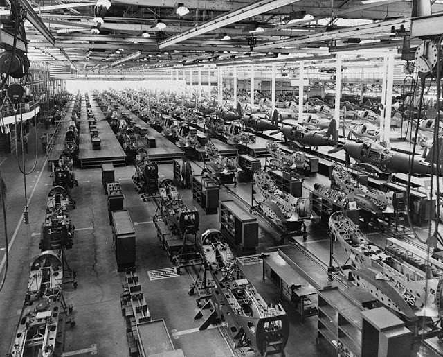 World War II Bell Aircraft assembly plant