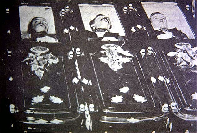 The bodies of Tom and Frank McLaury
