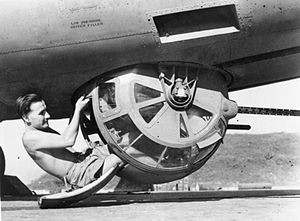 Sperry ball turret on  RAF B-24 Liberator in Burma