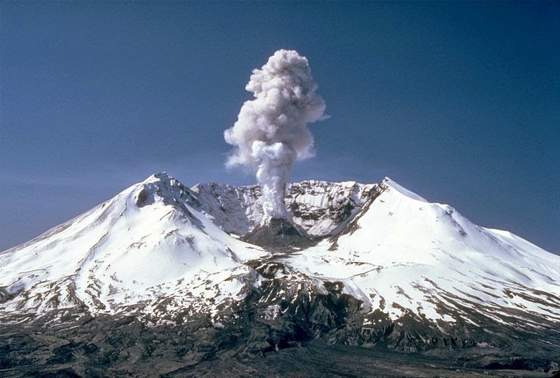 Mount St Helens in 1982