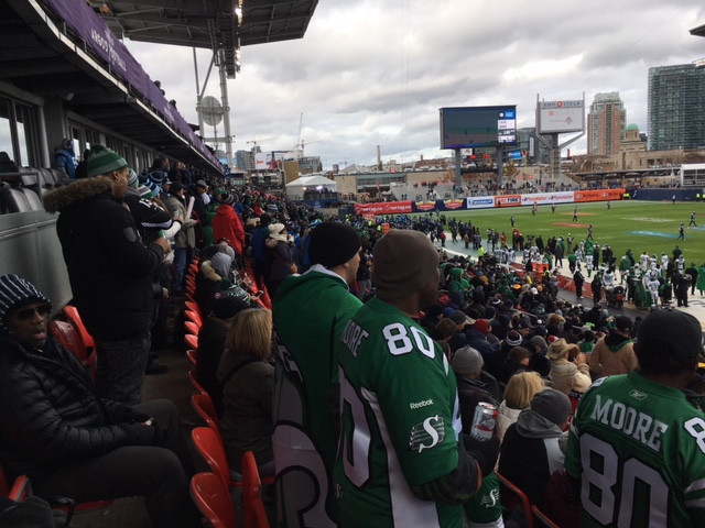 Roughrider fans at BMO Field