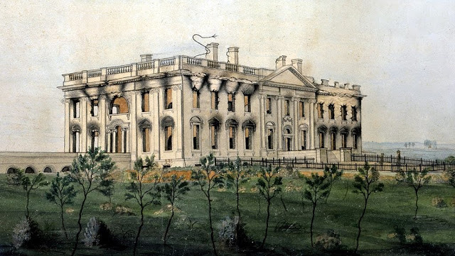 The President's House, watercolor by George Munger, 1815