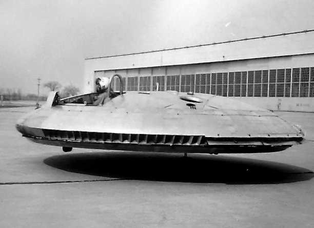 A 1961 test flight of the Avrocar