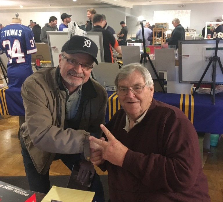 Daniel Wyatt with Denny McLain