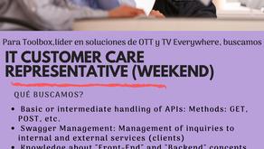 Buscamos IT Customer Care Representative