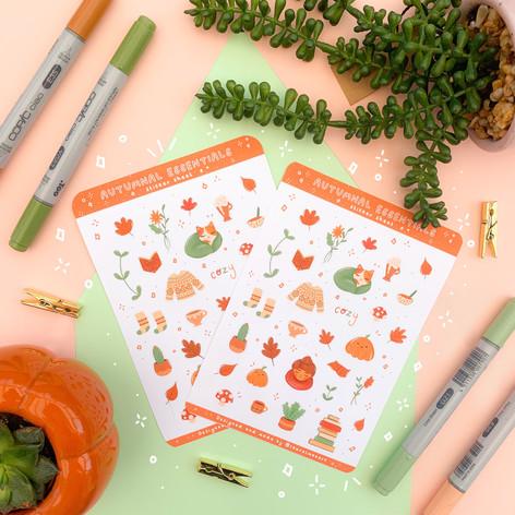 Autumn Essentials Sticker sheet