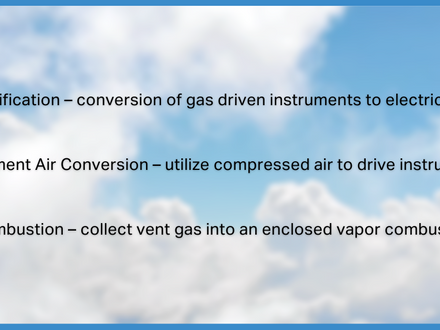 Collect, Convert, or Combust? An Effective Approach to Pneumatic Waste Gas Venting