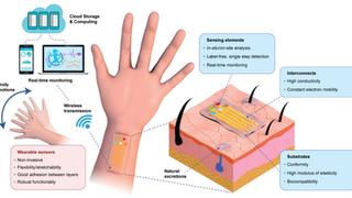 Flexible Hybrid Sensors for Health Monitoring