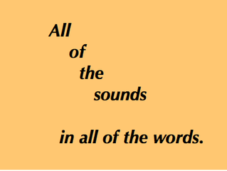 All Of The Sounds In All Of The Words