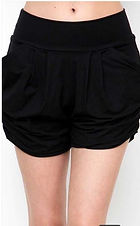 Black Harem Shorts.JPG