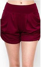 Burgundy Harem Shorts.JPG