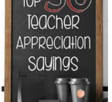 50 Teacher Appreciation Gift Ideas