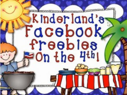THE TIME HAS COME!!!  Kinderland Facebook Freebies on the Fourth