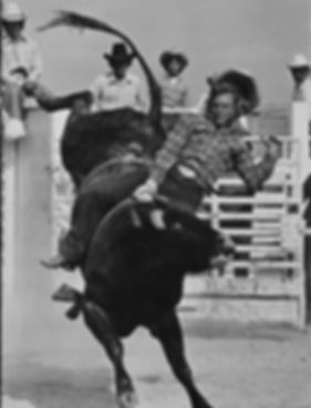 MATT MARTIN, HIGH SCHOOL RODEO FINALS SignedSilver Gelatin Print by Louise Serpa