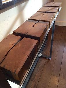 Custom wood console by Palladin Design