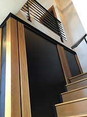 Staircase makeover provides a stunning entry to upper level