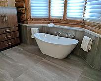 Master Bath bcomes a spa