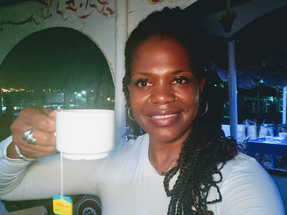 Luxor Egypt - Black tea after Egyptian breakfast