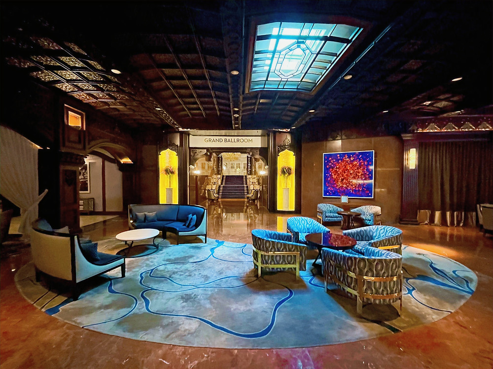 The plush & textured lobby