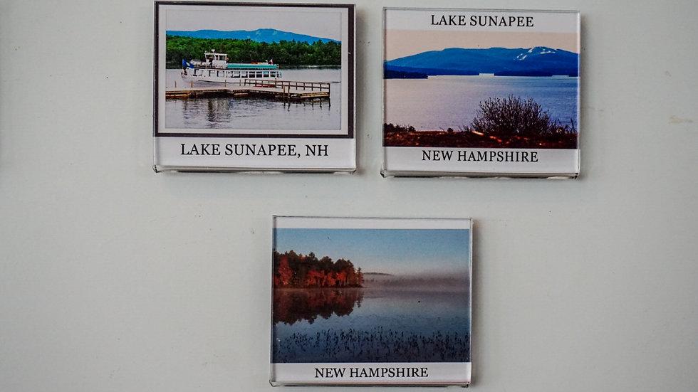 Gibbs Sunapee Area Lake Views Fridge Magnets