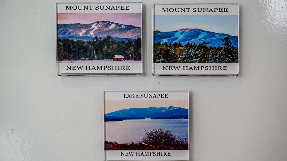 Gibbs Mount Sunapee Views Fridge Magnets
