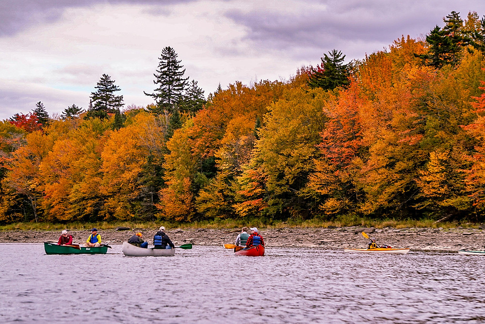 Canoe trip with Gibbs Guides in Pittsburg, New Hampshire