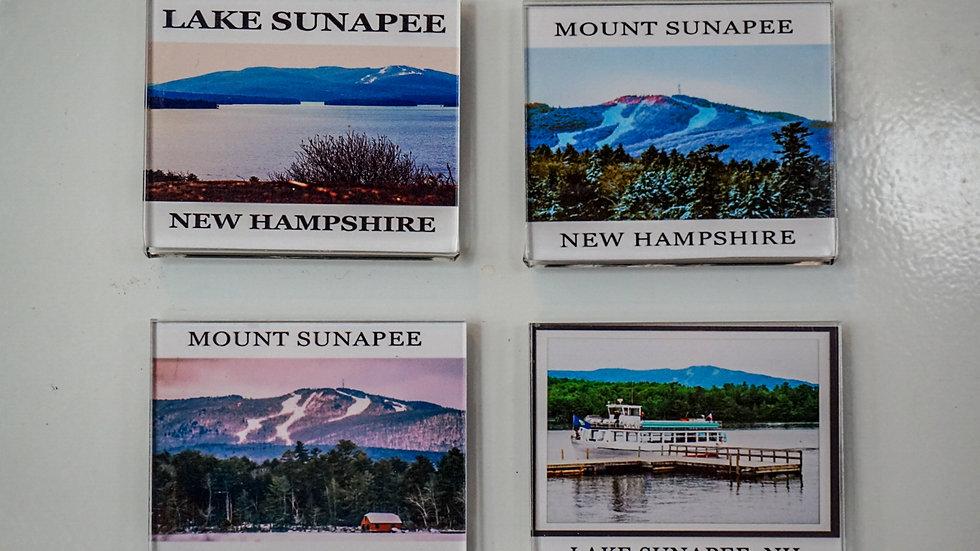 Gibbs Sunapee Lake and Mountain Fridge Magnets