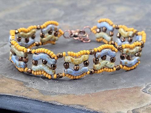 The Winding Road Bracelet Kit - Sage/ Cardamom/ Mustard/ Bronze