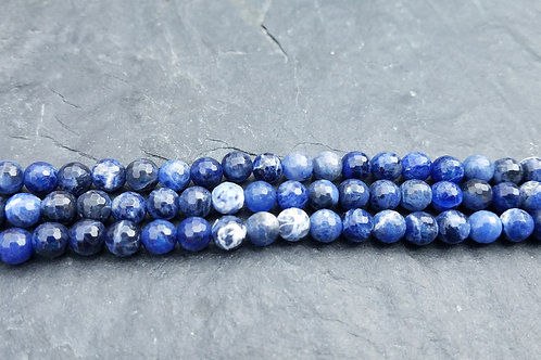 Sodalite - 6 mm Faceted