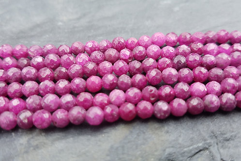 Ruby - 4 mm Faceted Round