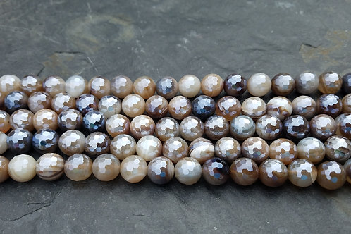 Diamond Coated Sardonyx - 10 mm Faceted