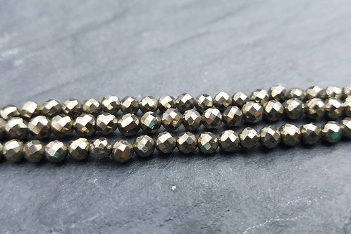 Pyrite - 4 mm Faceted Round