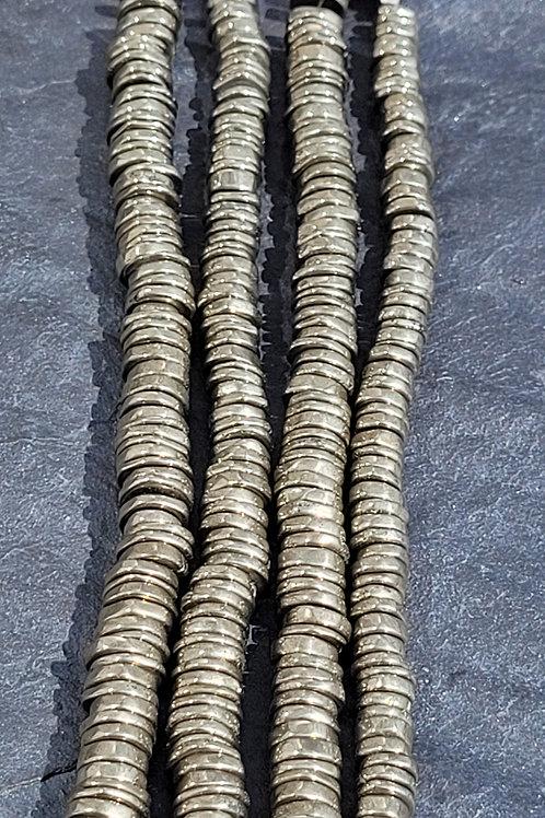 6x3 mm Pyrite Heshi Beads