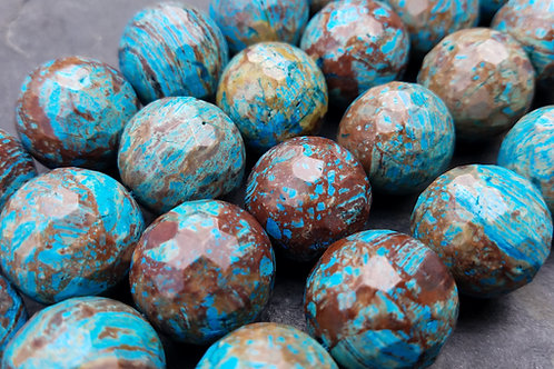 Blue Sky Jasper - 20 mm Faceted Round