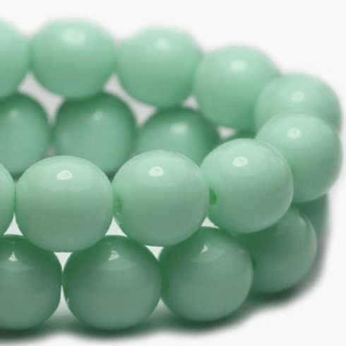 4 mm Druk Beads in Mint