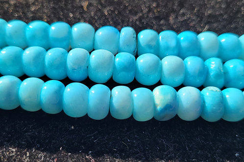 18. - 5x8 mm smooth Turquoise Opal rondelles