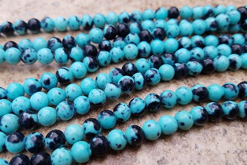 Black and Blue Jade - 6 mm