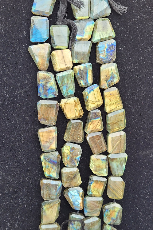 Faceted Labradorite - Organic Squares