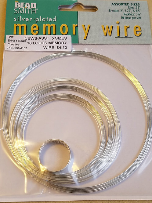 Memory Wire 10 Loop Assorted Sizes
